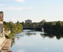 A photo of a river in Cambridge, Ontario