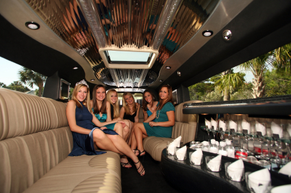 Photo of girls night out in Limo to Casino