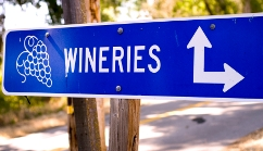 Photo of a Winery Route sign
