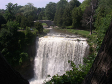 A photo of falls in Waterdown, Ontario