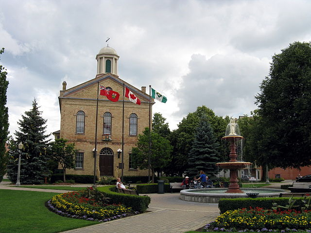 Old City Hall in Woodstock, Ontario. Constructed in 1851-1852